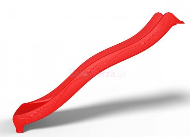 KBT Šmykľavka pre deti 3m - červená - Šmykľavka