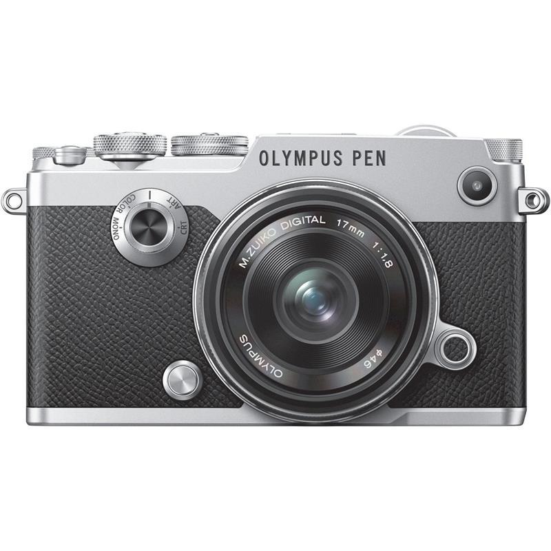 Olympus PEN-F + M.Zuiko Digital 17 mm f/1.8 Strieborný V204063SE000