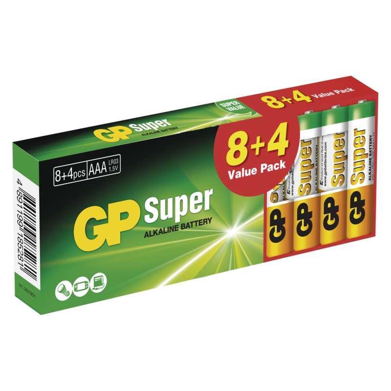 GP Super LR03 (AAA) 8+4ks B1310T