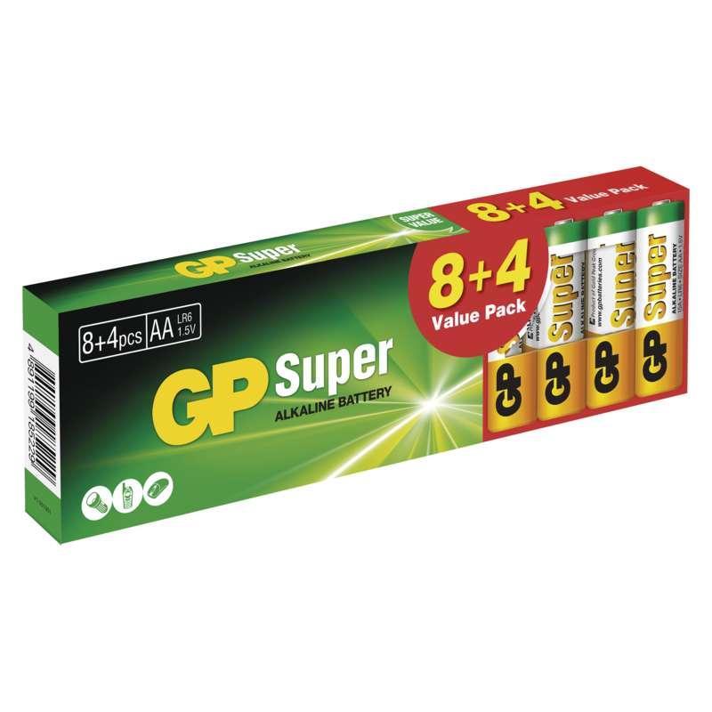 GP Super LR6 (AA) 8+4ks B1320T
