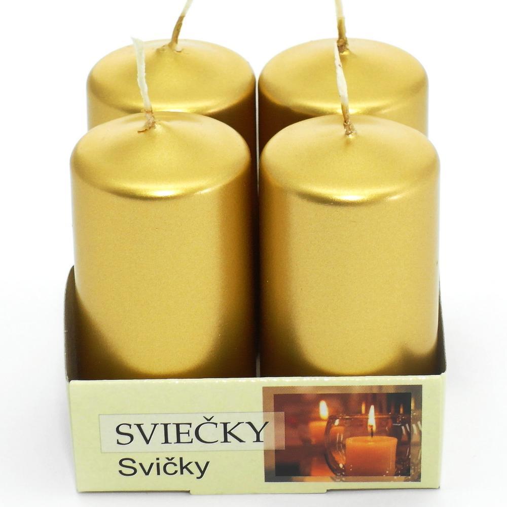 Florasystém 52604 Sviečka adventná 40/80 met. zlatá