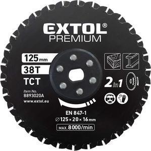 EXTOL Kotúč pílový, 125mm, 30 zubov 8893020A