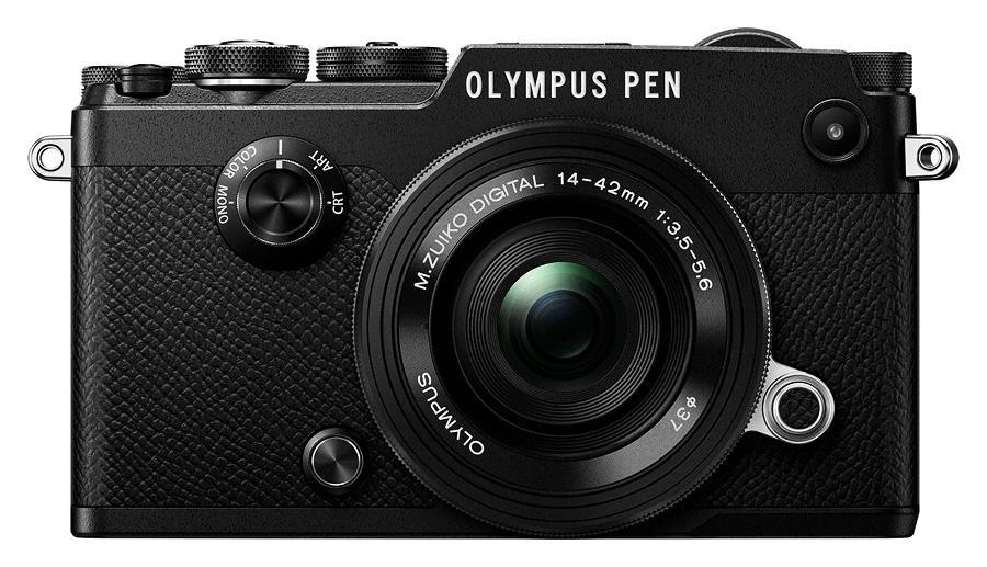Olympus PEN-F + M.ZD ED 14-42mm f/3.5-5.6 EZ Pancake Čierny V204061BE000