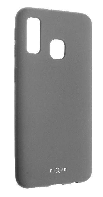 FIXED Story Zadný pogumovaný kryt pre Galaxy A40, sivý FIXST-400-GR
