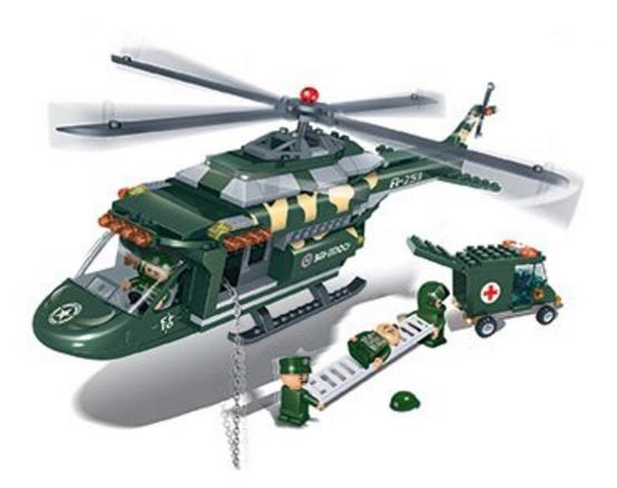 BanBao Defence Force 30057 - Záchranarský vrtuľník 30057