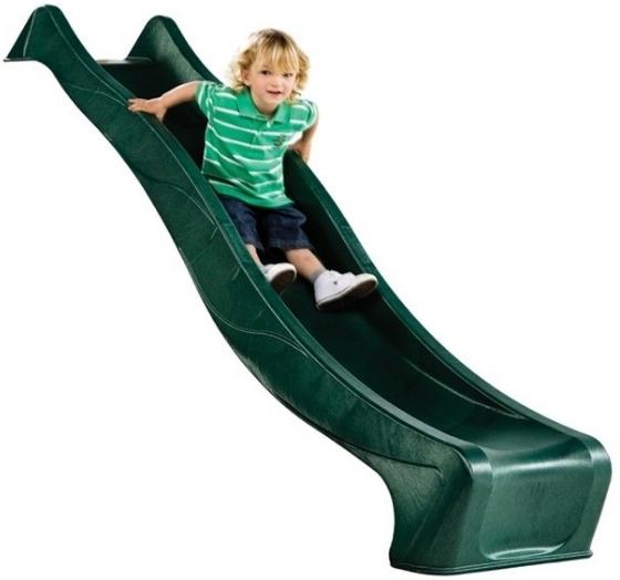 KBT Šmykľavka pre deti 3m - tmavo zelená - Šmykľavka