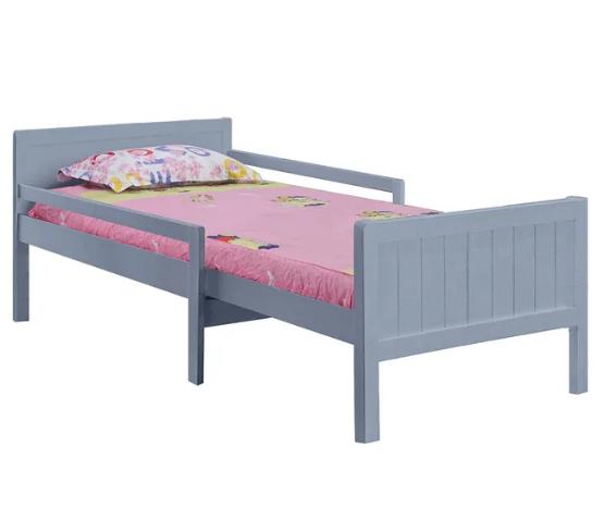 EUNIKA SIVA  + VYHRAJ PEUGEOT 208 - posteľ s nastaviteľnou dĺžkou a roštom bez matraca, sivá
