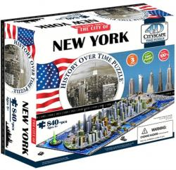 4D Cityscape 4D Puzzle Time Panorama New York