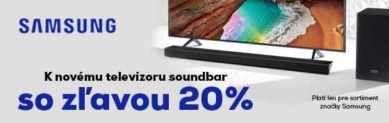 K Samsung TV, soundbar so zľavou -20%