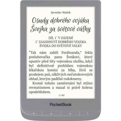PocketBook 627 Touch Lux 4 8GB Silver - čítačka kníh