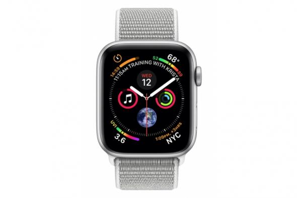 Apple Watch Series 4 GPS, 40mm Silver Aluminium Case with Seashell Sport Loop - smart hodinky Apple