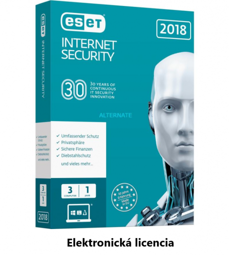 ESET Internet Security 1PC + 2rok - Elektronická licencia