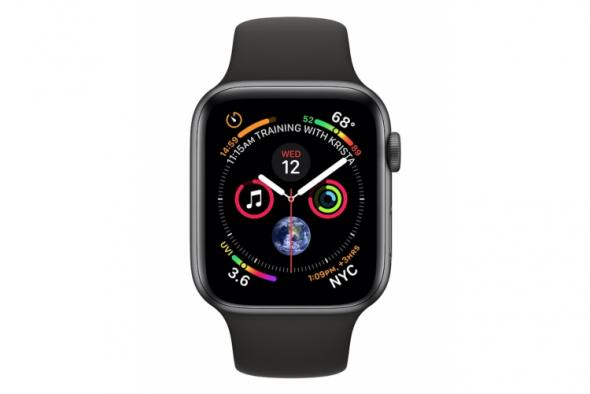 Apple Watch Series 4 GPS, 40mm Space Grey Aluminium Case with Black Sport Band - smart hodinky Apple