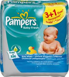 Pampers Fresh clean 4x64 ks