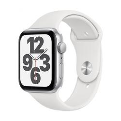 Apple Watch SE GPS, 44mm Silver Aluminium Case with White Sport Band - Regular  + VYHRAJ PEUGEOT 208