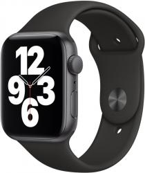 Apple Watch SE GPS, 44mm Space Gray Aluminium Case with Black Sport Band - Regular  + VYHRAJ PEUGEOT 208