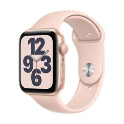 Apple Watch SE GPS, 44mm Gold Aluminium Case with Pink Sand Sport Band - Regular  + VYHRAJ PEUGEOT 208