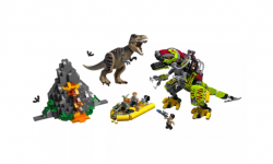 LEGO Jurassic World T. rex vs. Dinorobot