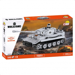 COBI World of Tanks Tiger I 545 k, 1 f  + VYHRAJ PEUGEOT 208