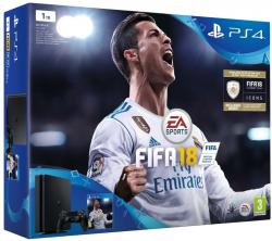 Sony Playstation 4 1TB black + FIFA18 + PS Plus 14 dní