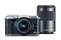 Canon EOS M6 strieborný +EF-M 15-45 mm IS STM+55-200 mm IS STM CASHBACK 70€