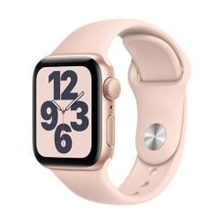 Apple Watch SE GPS, 40mm Gold Aluminium Case with Pink Sand Sport Band - Regular  + VYHRAJ PEUGEOT 208