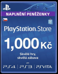 Sony PlayStation Live Cards 1000 CZK