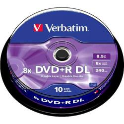 Verbatim DVD+R Dual Layer 10ks, 8.5GB 8x