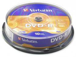 Verbatim DVD-R 10ks, 4.7GB 16x