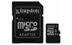 Kingston MicroSDHC 32GB Class 10 UHS-I (r80MB,w10MB)