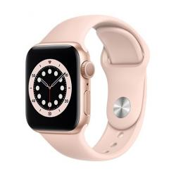 Apple Watch Series 6 GPS, 40mm Gold Aluminium Case with Pink Sand Sport Band  + VYHRAJ PEUGEOT 208