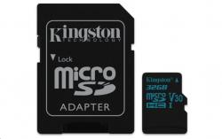 Kingston Canvas Go MicroSDHC 32GB Class U3 UHS-I V30 (r90MB,w45MB)
