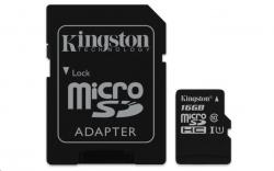 Kingston MicroSDHC 16GB Class 10 UHS-I (r80MB,w10MB)