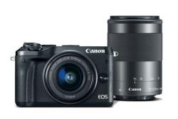 Canon EOS M6 čierny +EF-M 15-45 mm IS STM+55-200 mm IS STM CASHBACK 70€