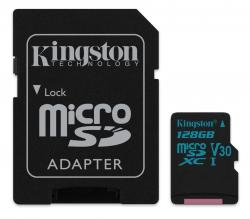 Kingston MicroSDXC 128GB Class U3 UHS-I V30 (r90MB,w45MB)