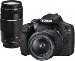 Canon EOS 2000D + EF-S 18-55mm IS + EF 75-300mm DC + 30€ CASHBACK