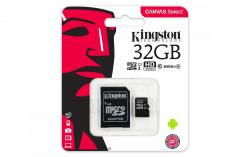 Kingston Canvas Select MicroSDHC 32GB Class 10 UHS-I (r80MB,w10MB)