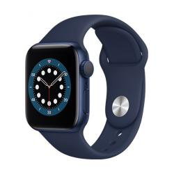 Apple Watch Series 6 GPS, 40mm Blue Aluminium Case with Deep Navy Sport Band  + VYHRAJ PEUGEOT 208