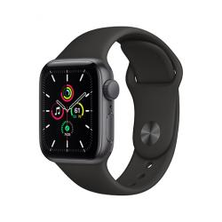 Apple Watch SE GPS, 40mm Space Gray Aluminium Case with Black Sport Band - Regular  + VYHRAJ PEUGEOT 208