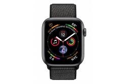 Apple Watch Series 4 GPS, 44mm Space Grey Aluminium Case with Black Sport Loop