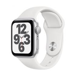 Apple Watch SE GPS, 40mm Silver Aluminium Case with White Sport Band - Regular  + VYHRAJ PEUGEOT 208