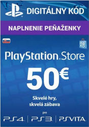 Sony PlayStation Live Cards 50 EUR - SK Store