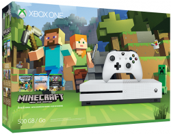 Microsoft XBOX ONE S 500GB Biela + Minecraft Favorites Pack