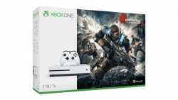 Microsoft XBOX ONE S 1TB Biela + Gears of War 4 Hra Screamride za 1 cent !