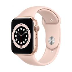 Apple Watch Series 6 GPS, 44mm Gold Aluminium Case with Pink Sand Sport Band  + VYHRAJ PEUGEOT 208
