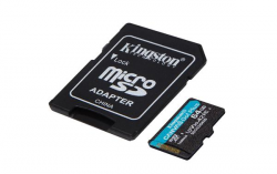Kingston Canvas Go Plus MicroSDXC 256GB class 10 (r170MB,w90MB)  + VYHRAJ PEUGEOT 208