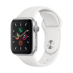 Apple Watch Series 5 GPS, 40 mm Silver Aluminium Case with White Sport Band