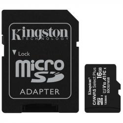 Kingston Canvas Select Plus MicroSDHC 16GB Class 10 (r100MB,w10MB)