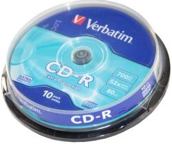 Verbatim CD-R 10ks, 700MB 52x