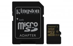 Kingston MicroSD(HC) 32 GB Class 10 ( r90MB/s, w45MB/s )